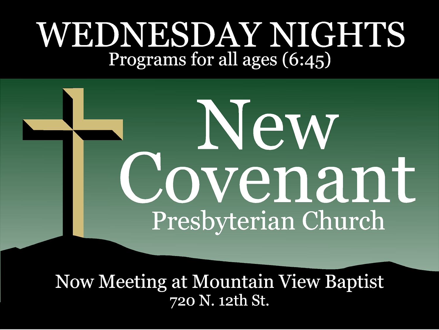 New Covenant Yard Sign 18x24